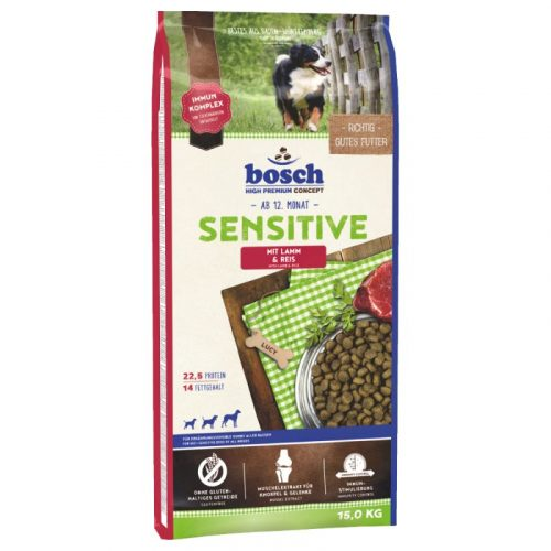 BOSCH Sensitive Lamb & Rice 70023 pla bosch sensitive l r 15kg 1 e1529083088156