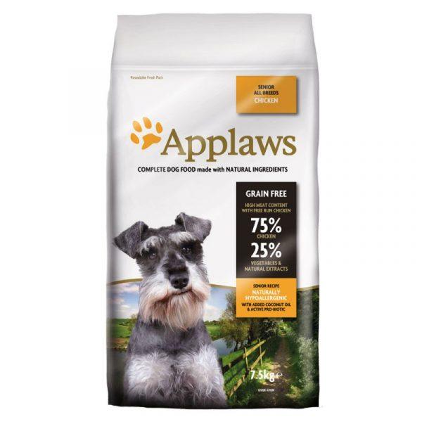 APPLAWS Senior Dog All Breeds Chicken applaws adult senior huhn 0 e1528485223272